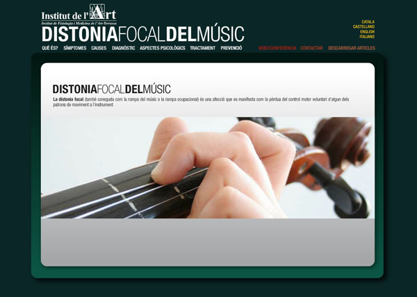 web distonia